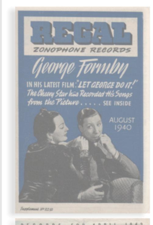 George Formby Song Lyrics